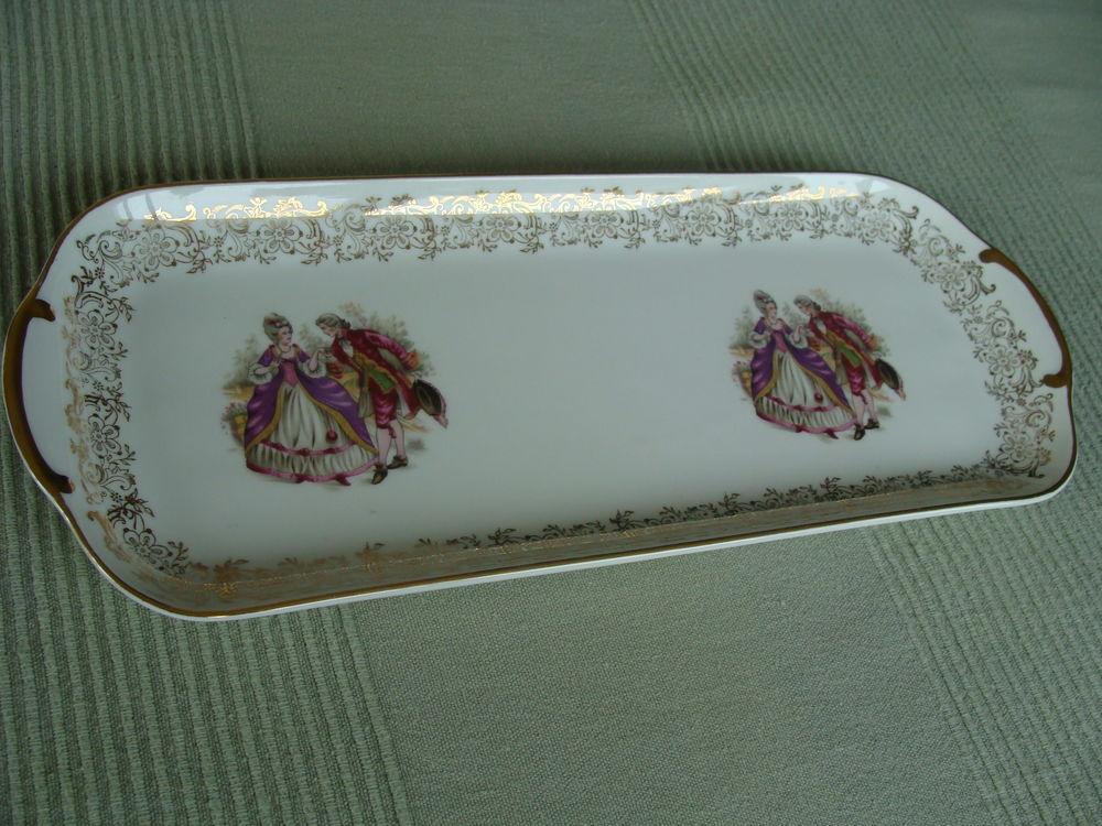 Plat à cake porcelaine de luxe 8 Bordeaux (33)