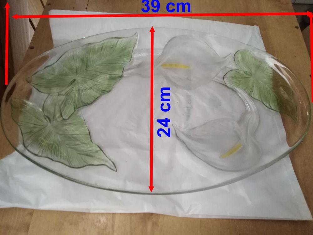 Plat oval verrre décoré 20 Saint-Médard-en-Jalles (33)