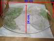 Plat oval verrre décoré