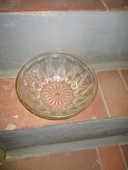 Plat ou saladier en pyrex et dorure sur le tour avec motifs 0 Mérignies (59)