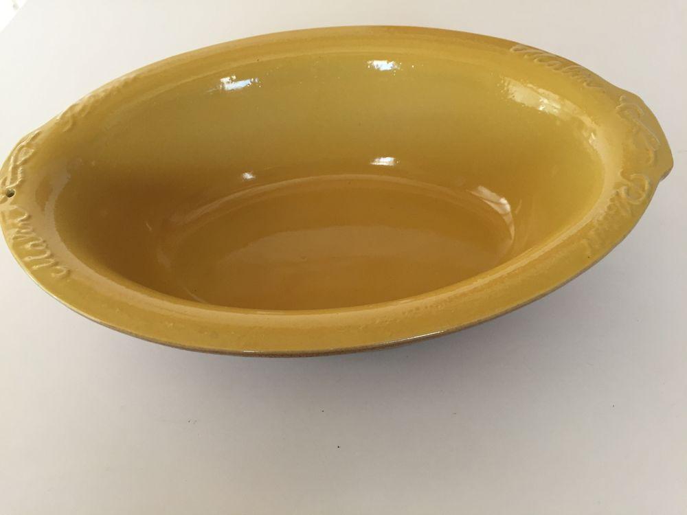 Plat en terre cuite jaune  10 Nîmes (30)