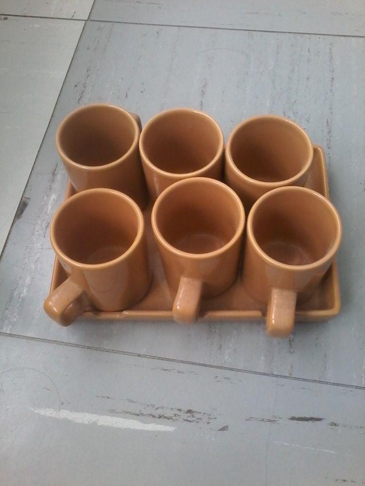 Plateau avec 6 tasses  pour café ou thé  neuf pour offrir  10 Tourcoing (59)