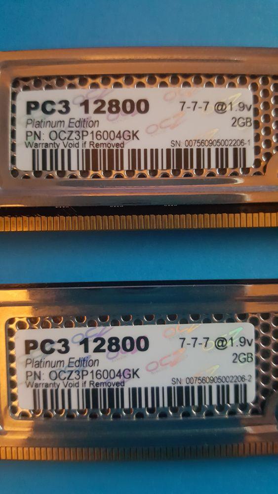 OCZ PLATINUM 4GO 2 x 2GO DDR3 1600MHz PC3-12800 OCZ3P16004GK Matériel informatique