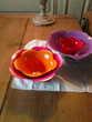 4 plats en plastique emboitables en forme de fleur