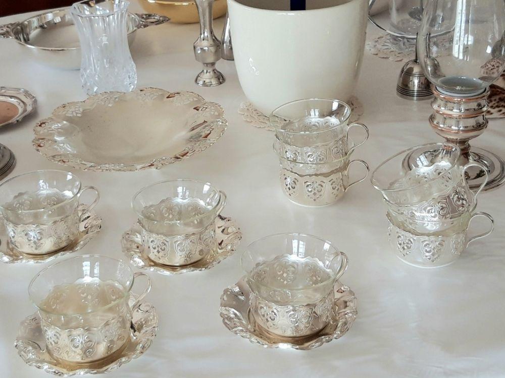 Plats,  vases, photophore, coupelles en métal argenté  12 Caen (14)