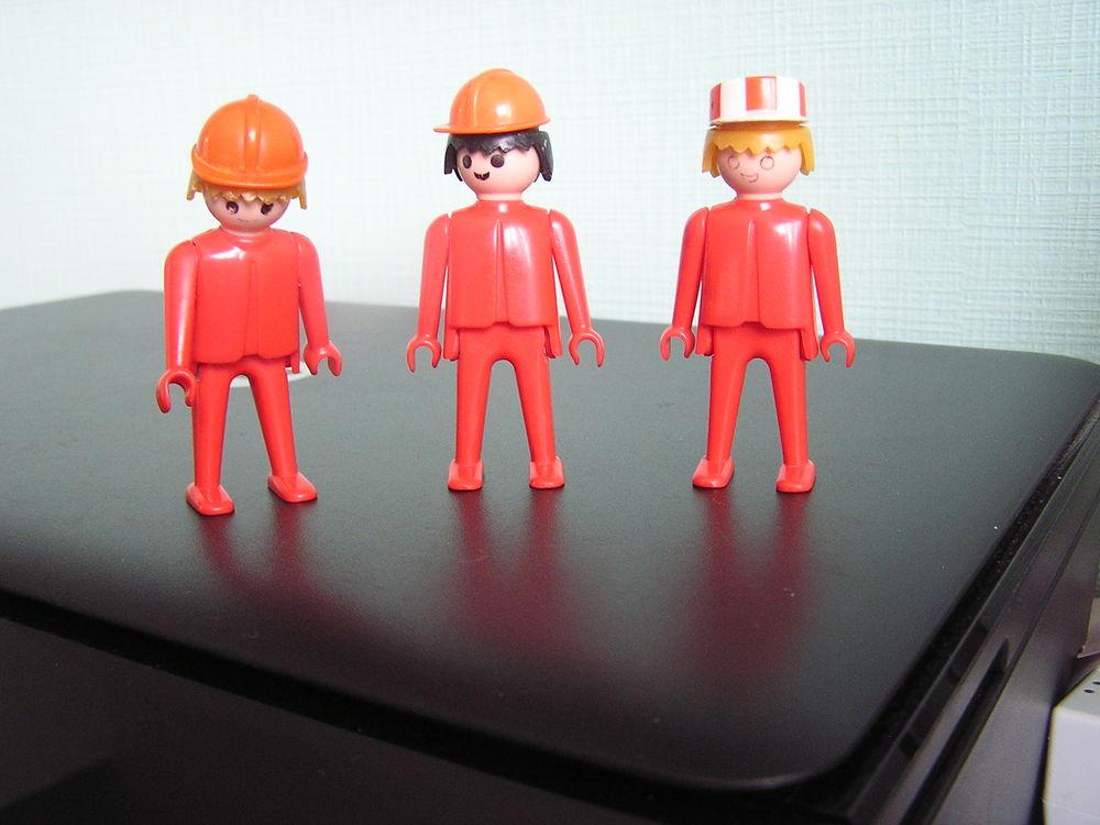 Playmobil vintage (1974) : ouvriers de chantier 3 Brouckerque (59)