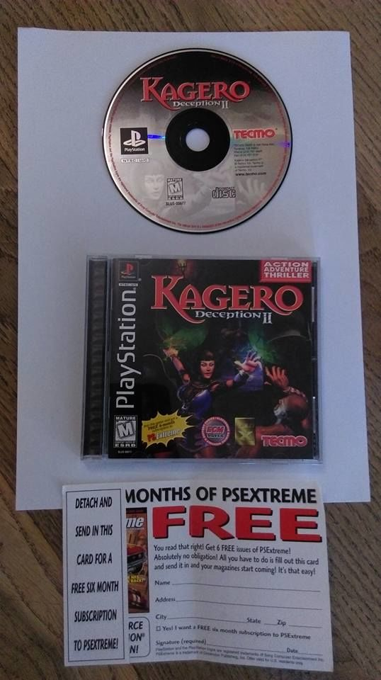 PLAYSTATION: KAGERO Deception II (version US) 25 Neuilly-sur-Marne (93)
