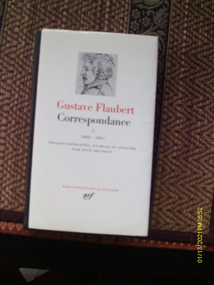 Pléiade: Correspondance, Tome 1 de Flaubert. 45 Fontenay-sous-Bois (94)