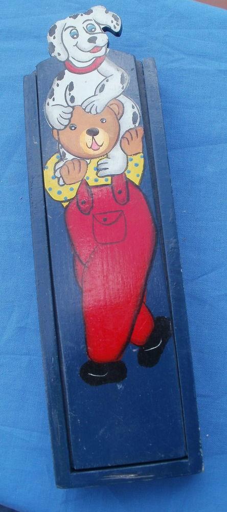 Plumier en bois, boite à crayon, décor enfantin 3 Montauban (82)