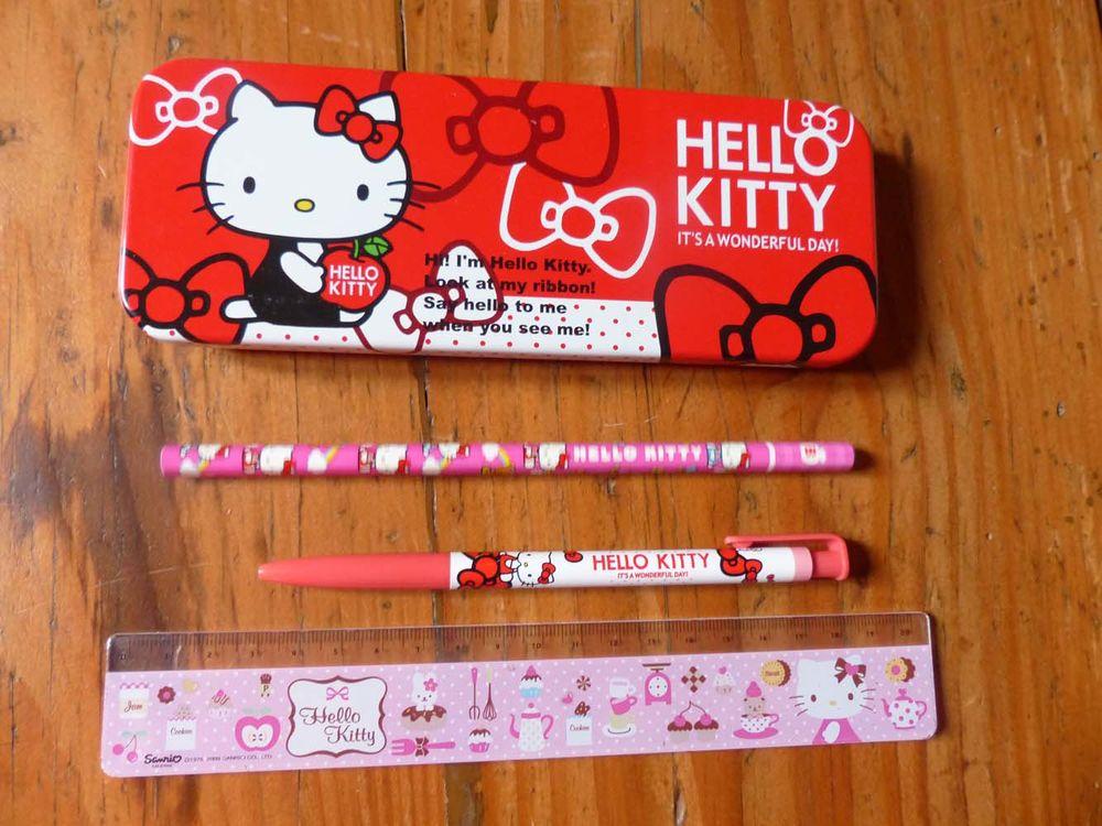 Plumier, règle, crayon et bic Hello Kitty 8 Strasbourg (67)