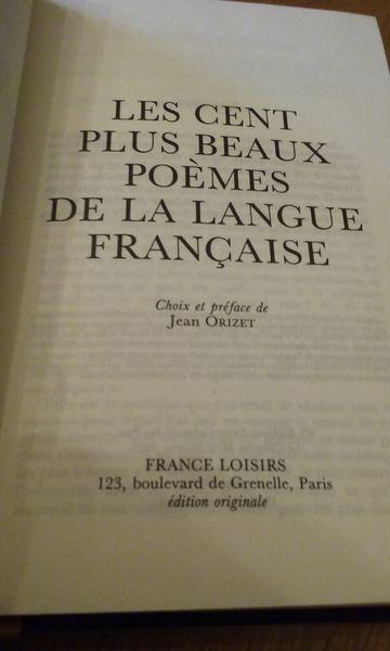 Les 100 Plus Beaux Poèmes De La Langue Française