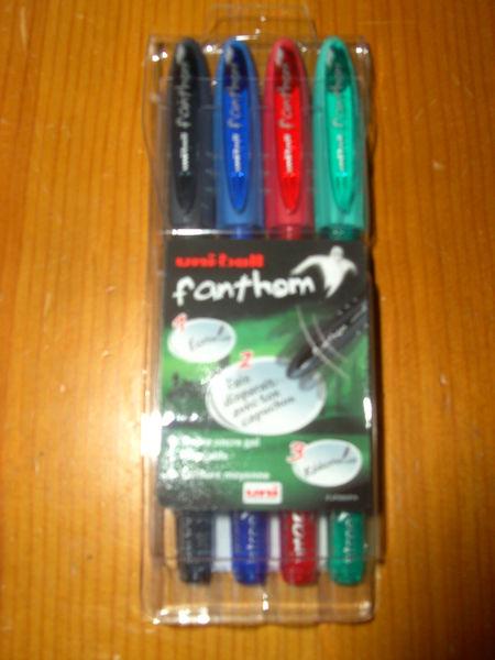 Pochette de 4 stylos Uni-ball Fanthom (Neuve) 7 Ardoix (07)