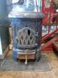 Poêle à bois fonte émaillée style Art déco Toulouse (31)