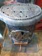Poêle à bois fonte émaillée style Art déco Décoration