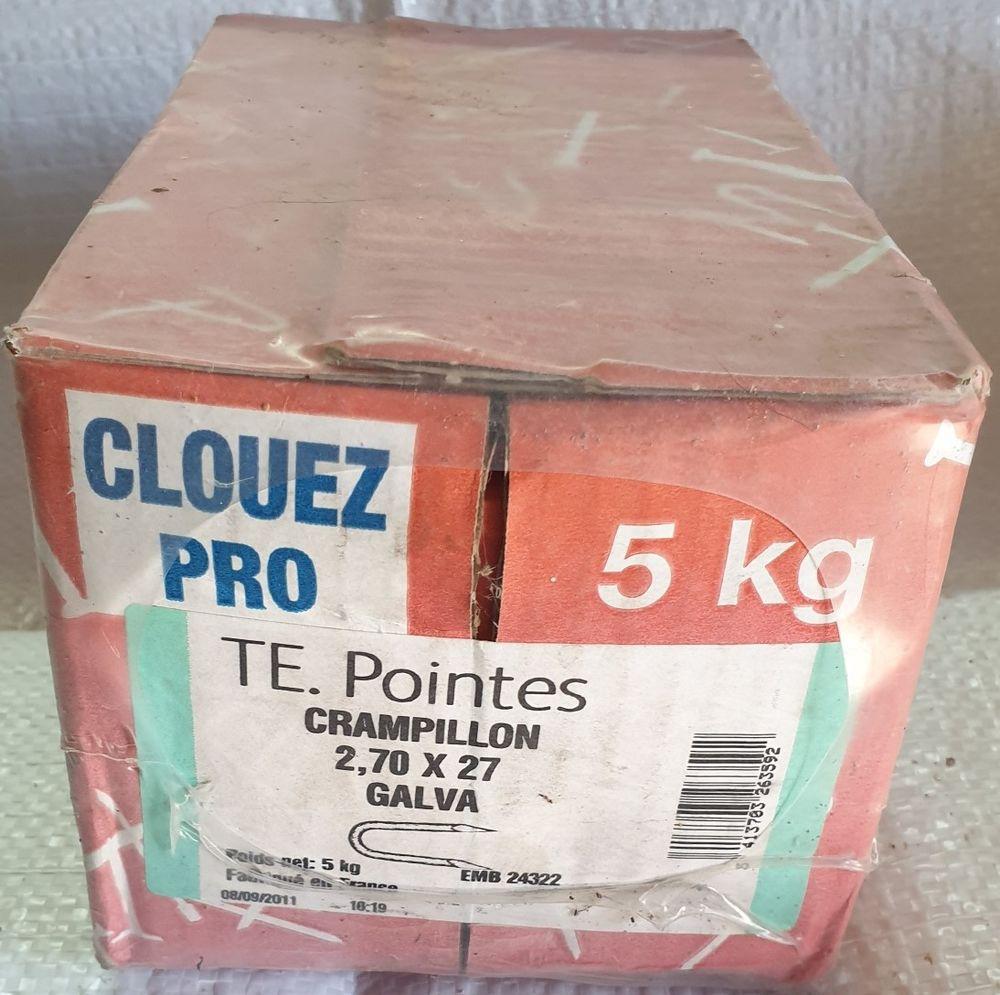 Pointes CRAMPILLON 2, 70 x 27 GALVA - 5 kilos 30 Château-Renard (45)