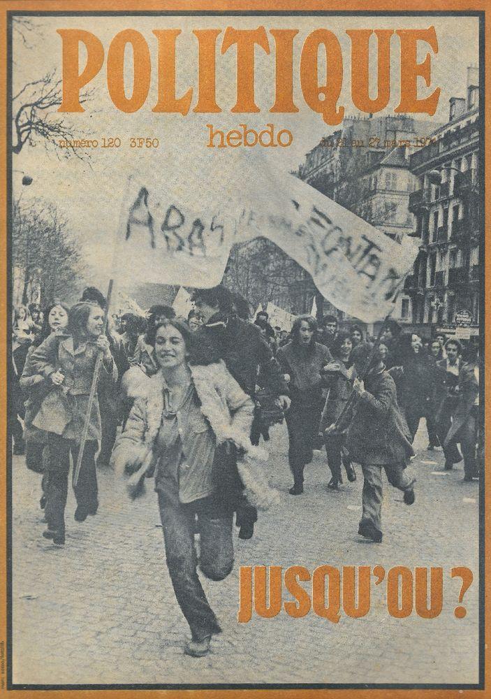 POLITIQUE HEBDO Magazine n°120 1974  Le capitalisme 2 Castelnau-sur-Gupie (47)