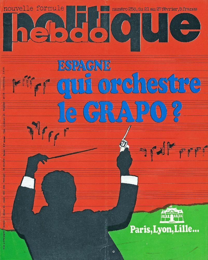 POLITIQUE HEBDO Magazine n°258 1977  Les grands magasins 3 Castelnau-sur-Gupie (47)