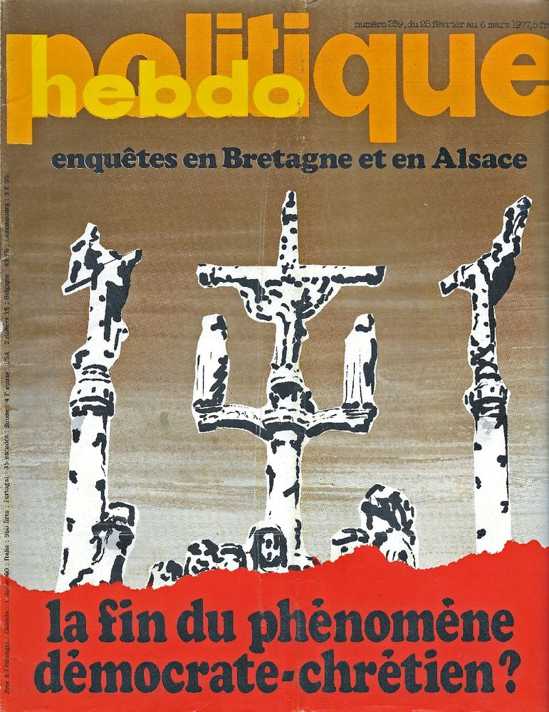 POLITIQUE HEBDO Magazine n°259 1977 LIP Jane FONDA Livres et BD