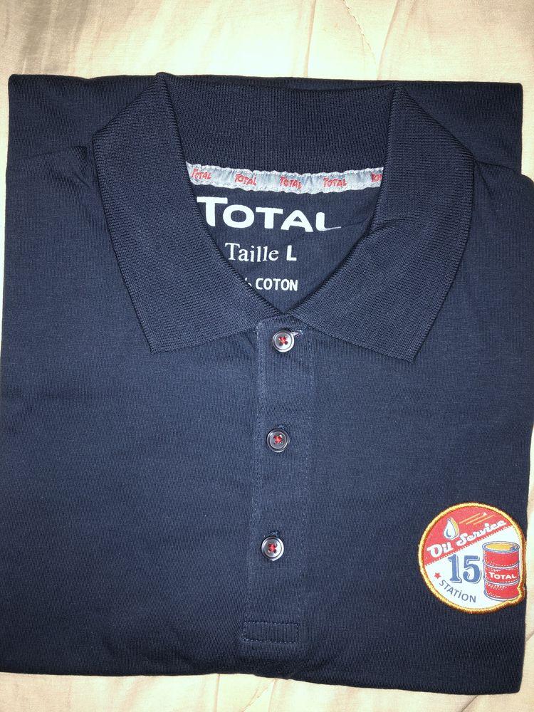 polo bleu marine Total collector 4 Brie-Comte-Robert (77)