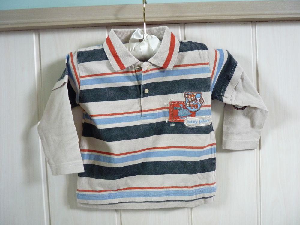 polo pommette bébé garçon 9/12 mois beige tbe 1 Brienne-le-Château (10)