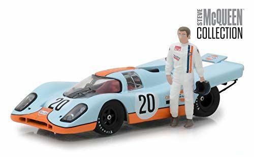 Porsche 917k W/ Steve McQueen Figure 1 43 Model 86435 Green  35 Coudekerque-Branche (59)