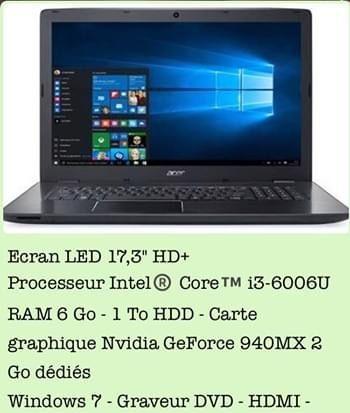 Pc Portable Acer Aspire E5-774G-326G Matériel informatique