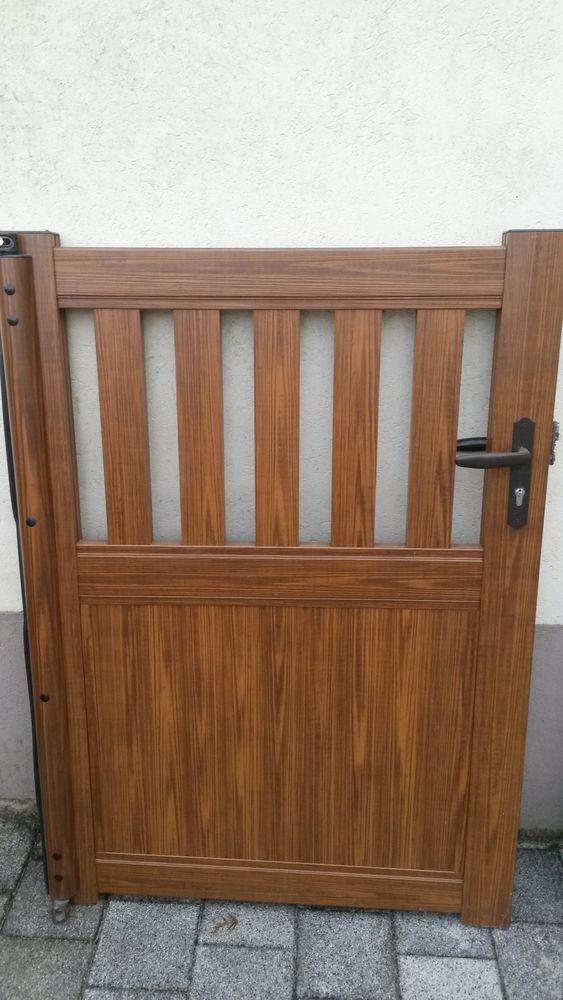 portail alu imitation bois avec 3 clotures 2500 Reichshoffen (67)