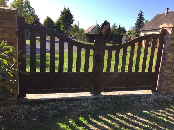 Portails de jardin +1portillon en bois à rénover ~ Renover Un Portail En Bois