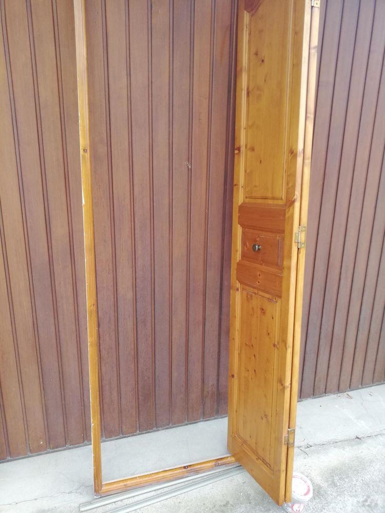 Porte accordéon bois vernis complète avec cadre 40 La Tour-du-Pin (38)