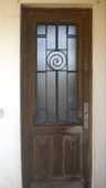 Porte ancienne bois et fer forgé 400 Felzins (46)