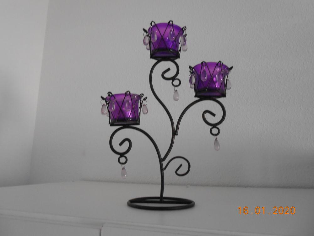 Porte bougies deco porte luminions violet 5 Châteaurenard (13)