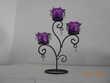 Porte bougies deco porte luminions violet Décoration