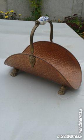 Porte-buches cuivre Décoration