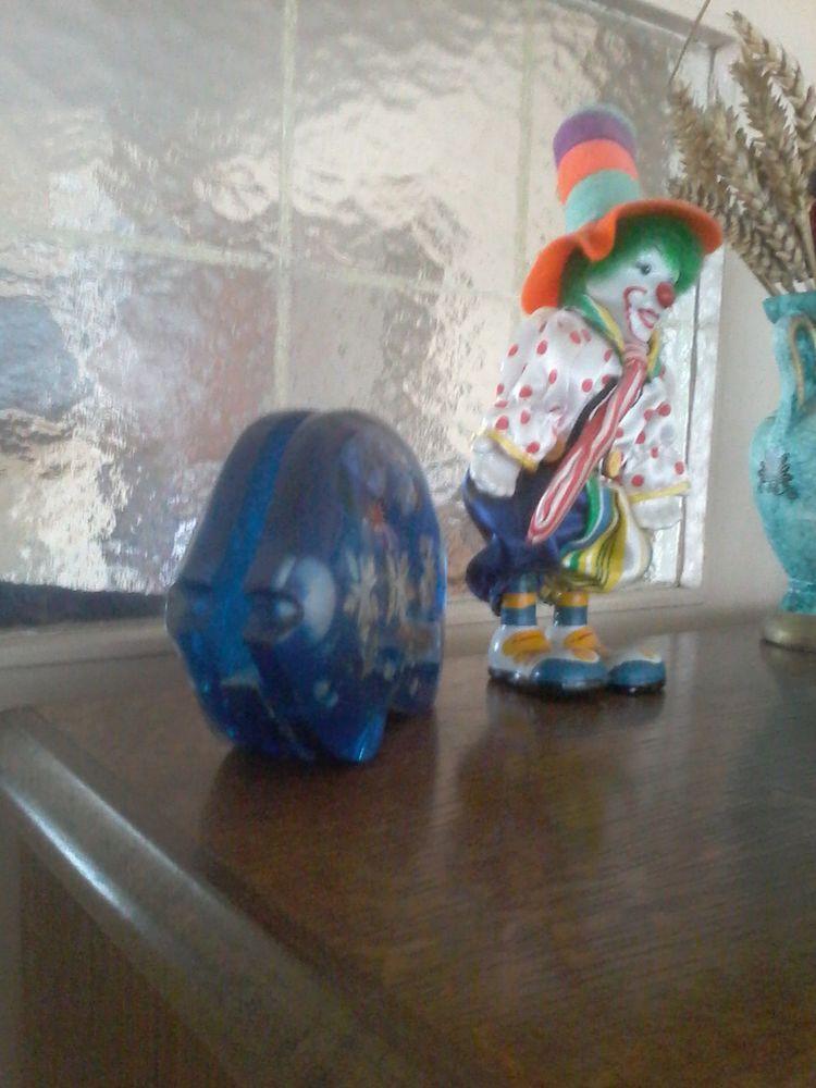 Porte  courrier  en  cristal verre bleu pour offrir  15 Tourcoing (59)