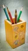 Porte crayons en bois et fleurs séchées 10 Montargis (45)