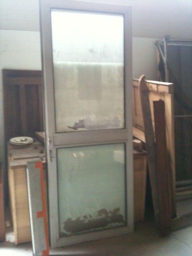 Porte d'entrée aluminium 205cm x 80cm Bricolage