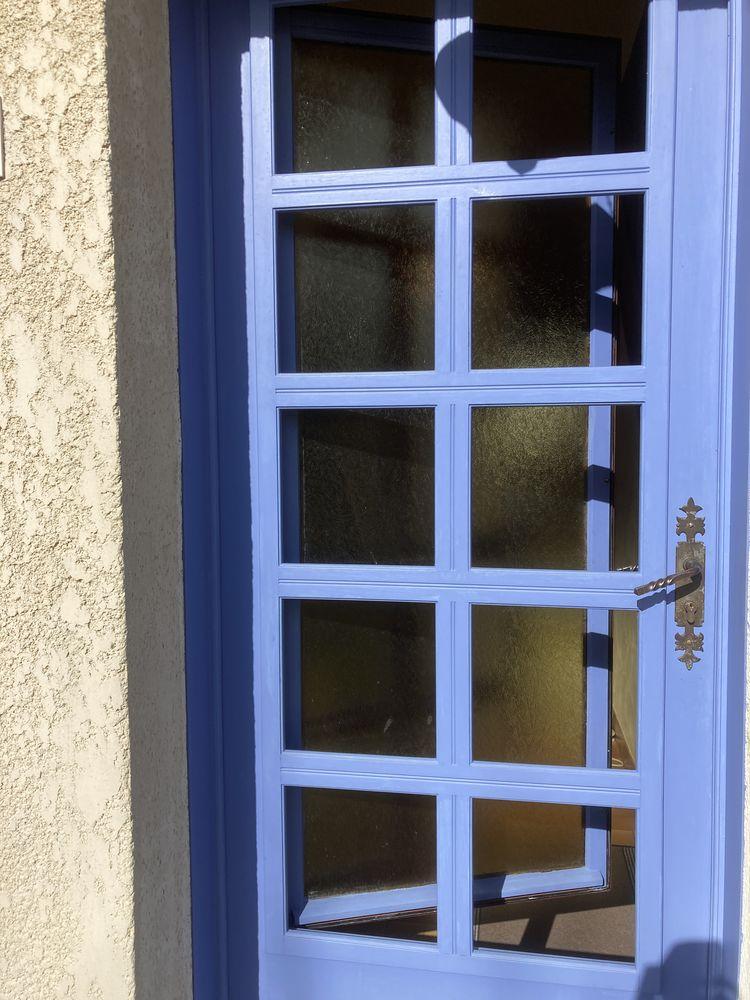 Porte d'entrée bois exotique double vitrage 80 Beauvais (60)