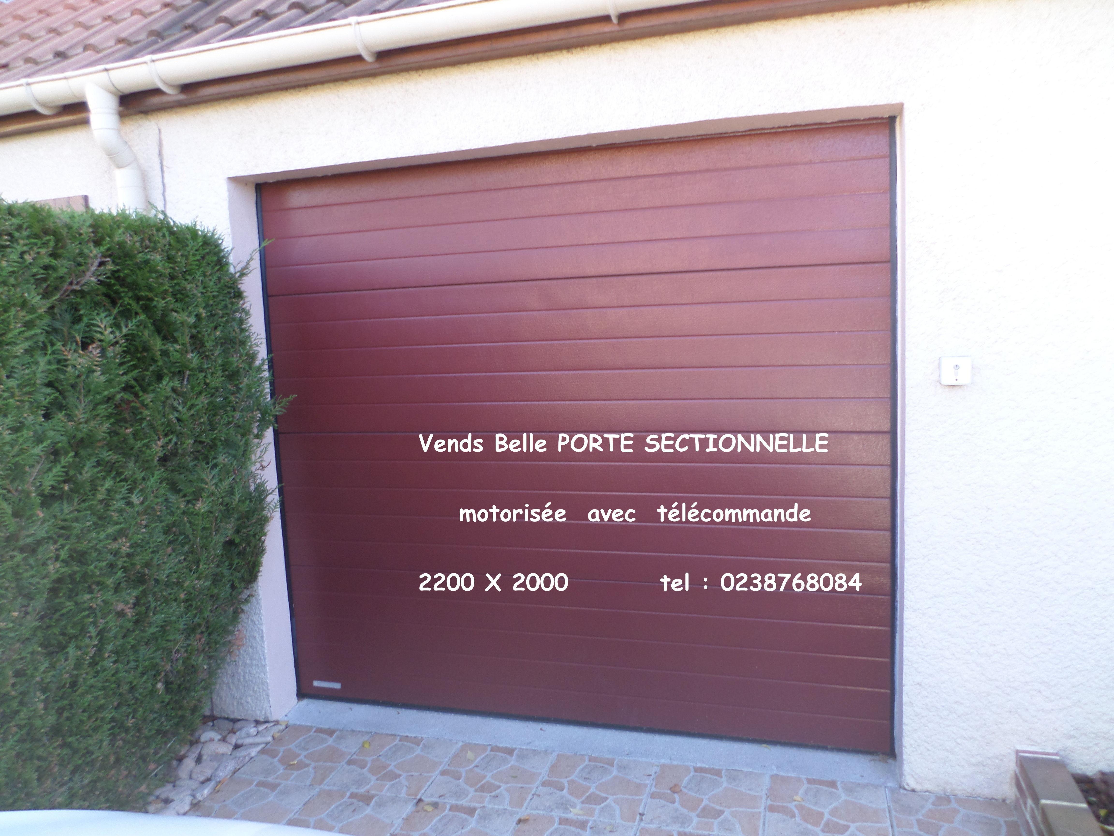Portes De Garage Occasion Annonces Achat Et Vente De Portes De - Porte de garage sectionnelle avec panneau de porte pvc
