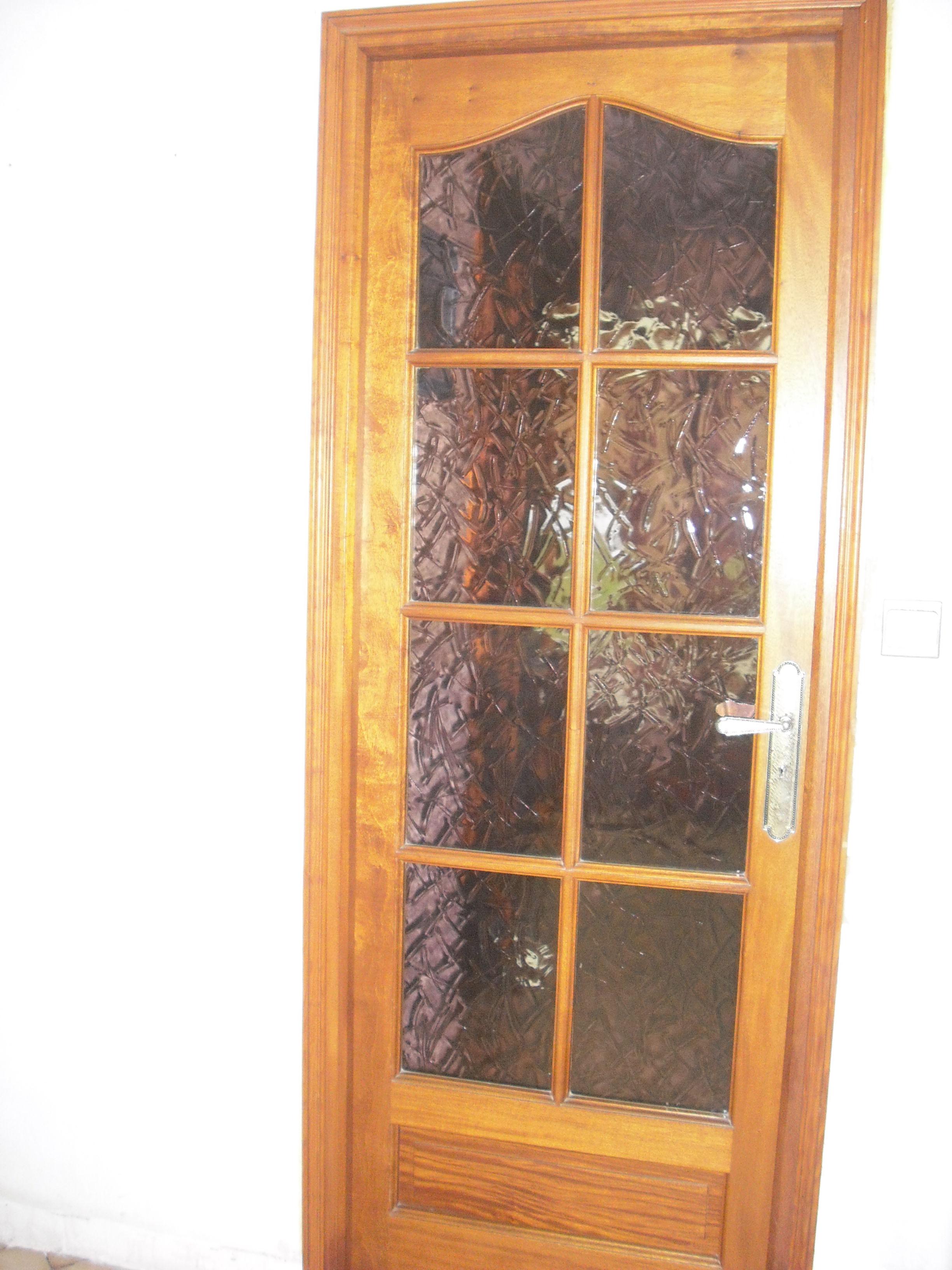porte intérieure chêne avec carreaux roses 50 Monchaux-sur-Écaillon (59)