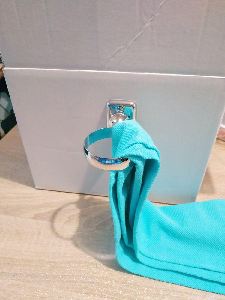 Porte serviette, torchon  en inox brillant  5 Lens (62)