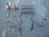 Porte vases/salamandre/chenet/fer forgé/cheminée 25 Castres (81)