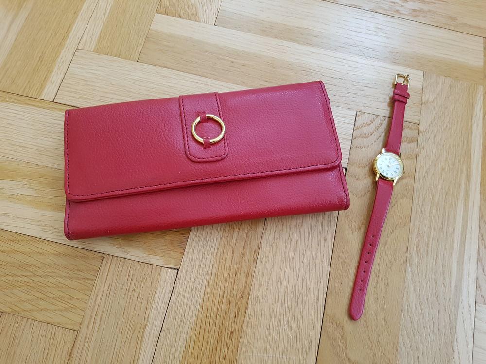 69041e3174 Portefeuille femme + montre assortie. Vends portefeuille (porte carte ...
