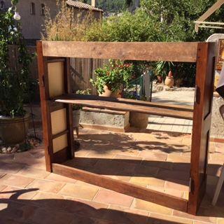 Portes anciennes de meuble en NOYER  0 Hyères (83)