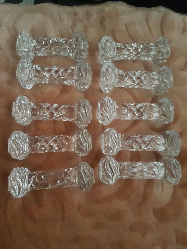 10 Portes couteaux cristal taillé  55 Argenteuil (95)