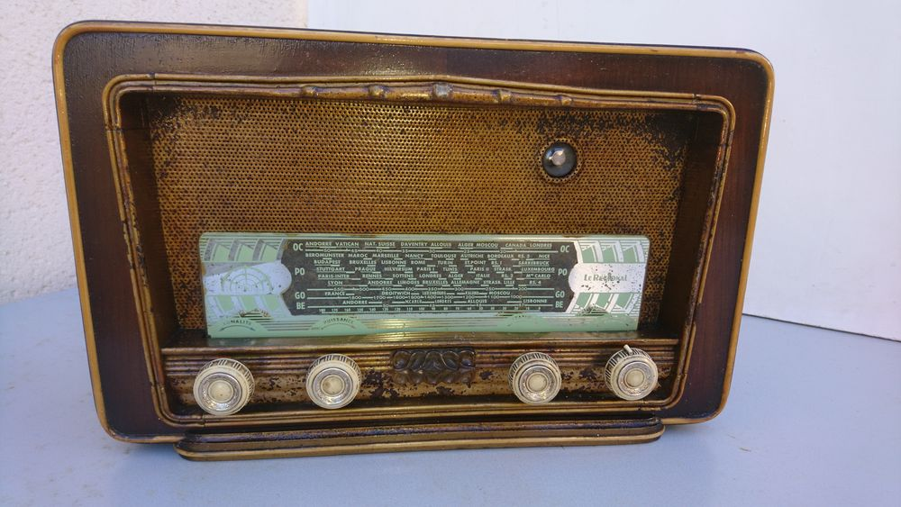 Poste de radio à lampes - Vintage 30 Magnanville (78)