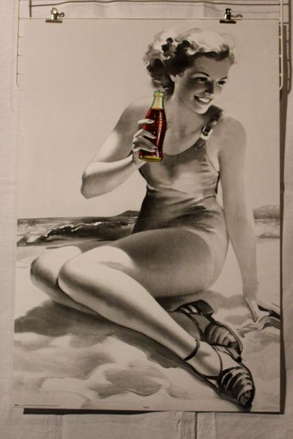 Poster  :    COCA  COLA  BEACH    23 Anglet (64)