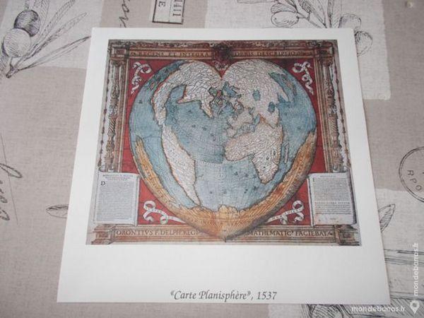 POSTER NEUF «PLANISPHERE 1537» Décoration
