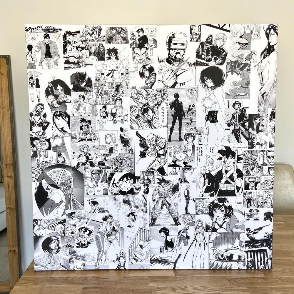 Poster - toile tableau 80x80 199 Paris 18 (75)