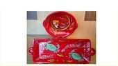 Poterie rouge thèmes mer pecheur crevette crabe poisson plat 75 Saint-Pôtan (22)