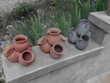 3 Poteries décoratives